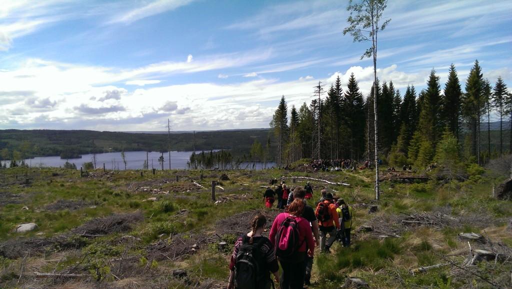 På vei fra Lebiko til Varaldskogen skole.